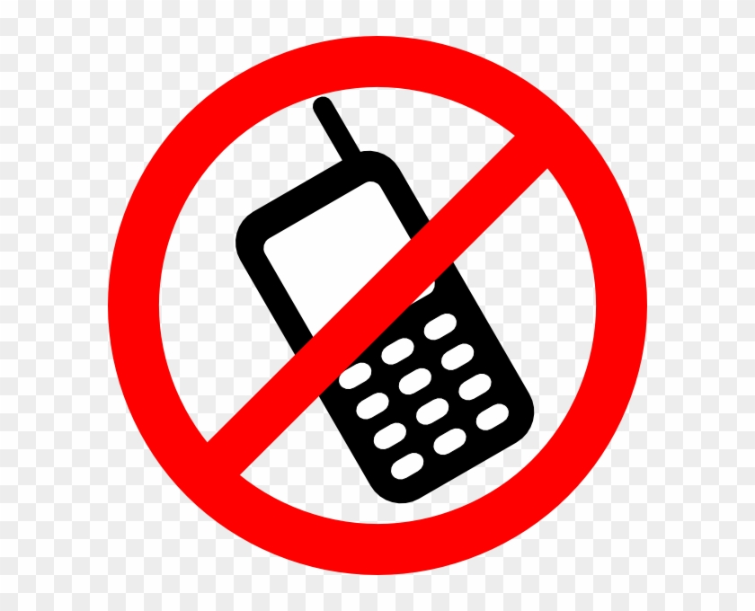 Nophone Clip Art At Clker - Do Not Use Phone #486750