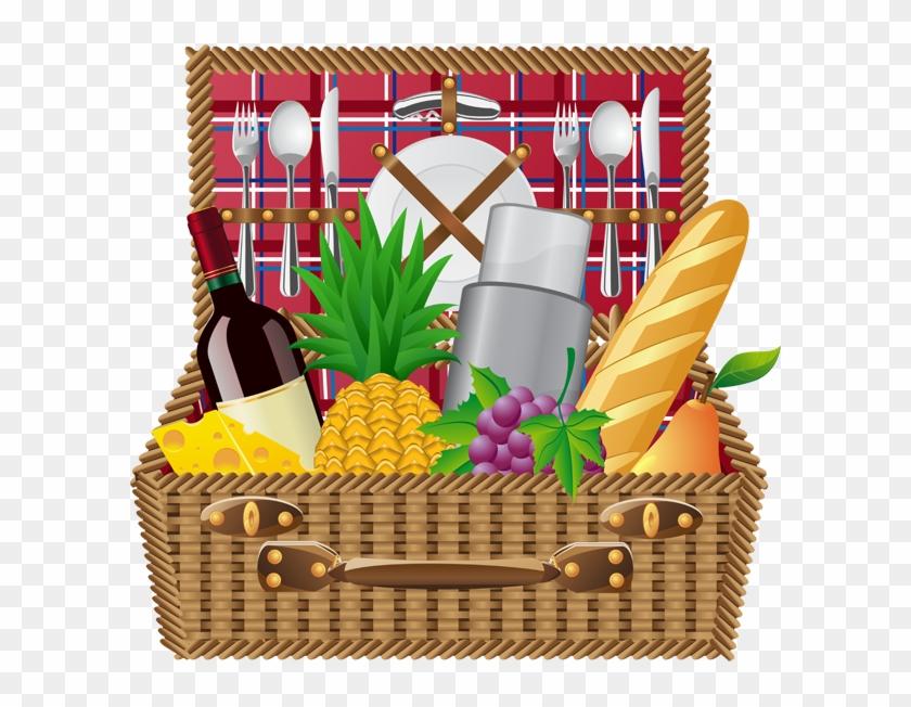 Picnic Basket Picnic Blanket And Basket Clip Art Info - Clipart Picnic Basket #486860