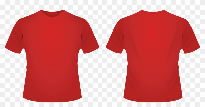 Red T-shirt Clipart - Red T Shirt Front And Back #487432