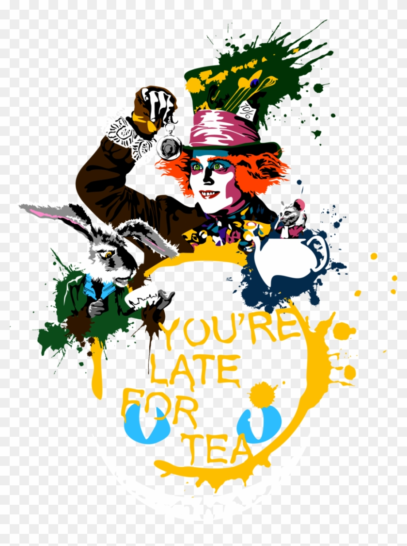Top Images For Mad Hatter Fan Art On Picsunday - You Are Late For Tea #487511