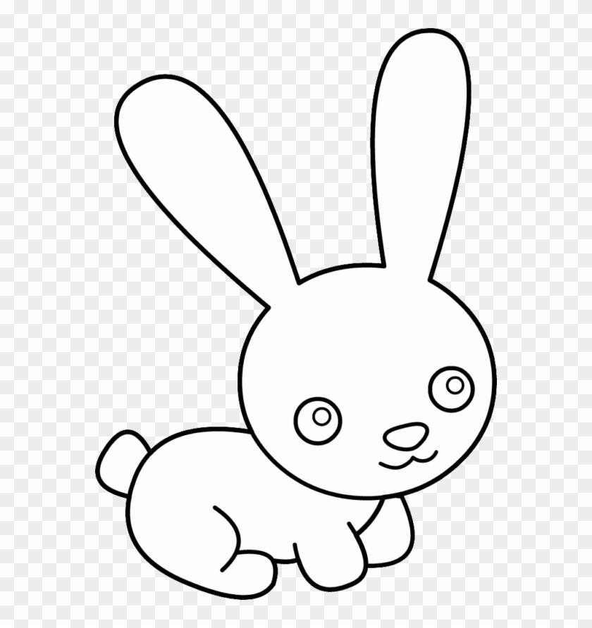 Clipart Of Rabbit - Cute Rabbit Cartoon Black And White #487548