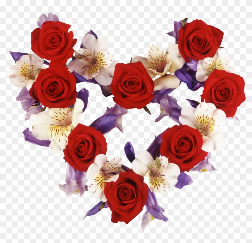 All These Pictures Are Attractive And Fabulous - Heart Shaped Flowers Valentine #487613