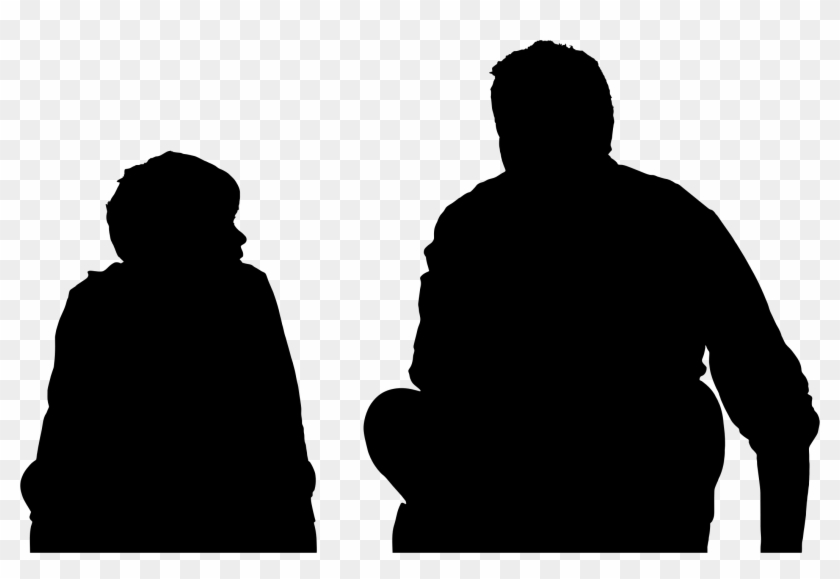 Silhouette Clipart Parent - Father And Son Silhouette Png #488817