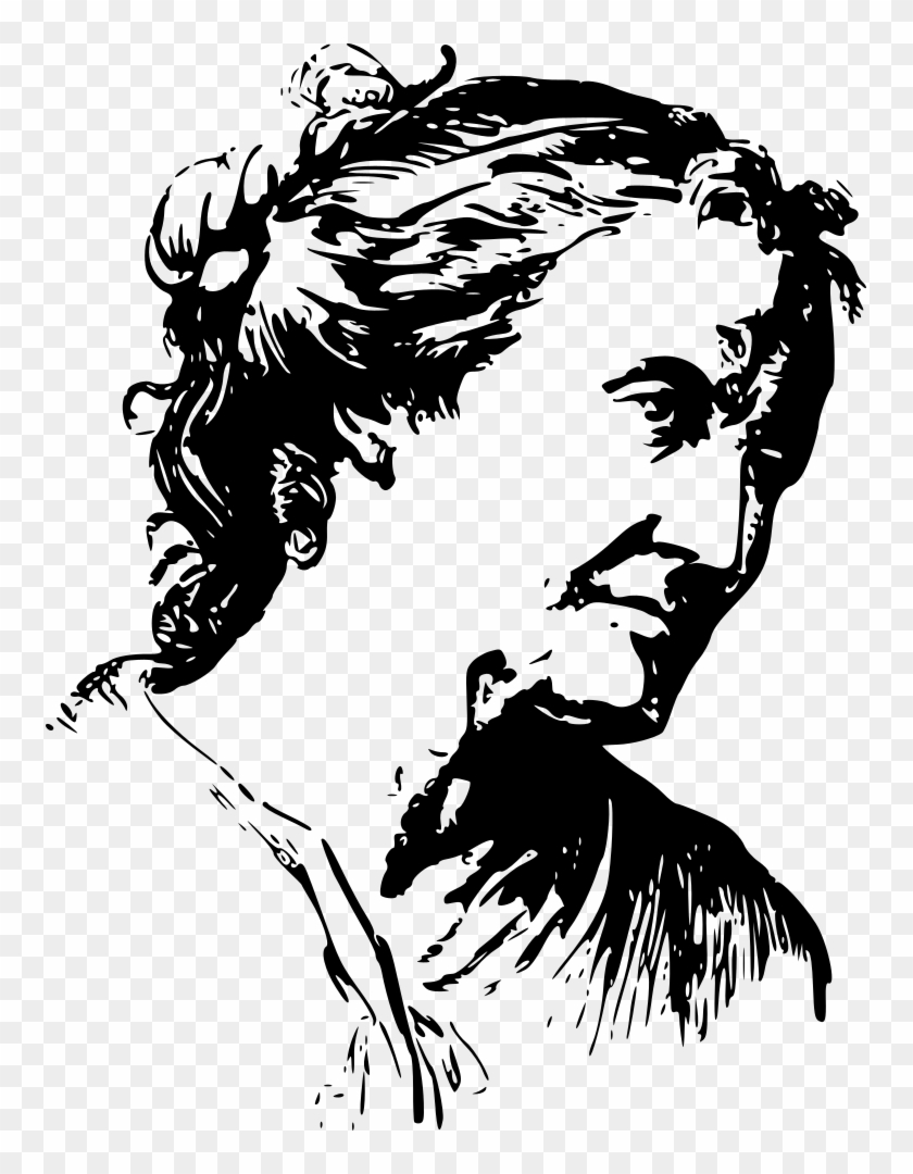 Face Expression Old Woman - Old Lady Clipart Black And White #489252