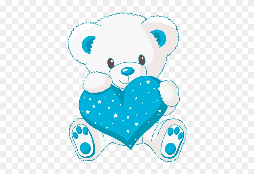 cute white baby bear with blue love heart cute teddy bears with