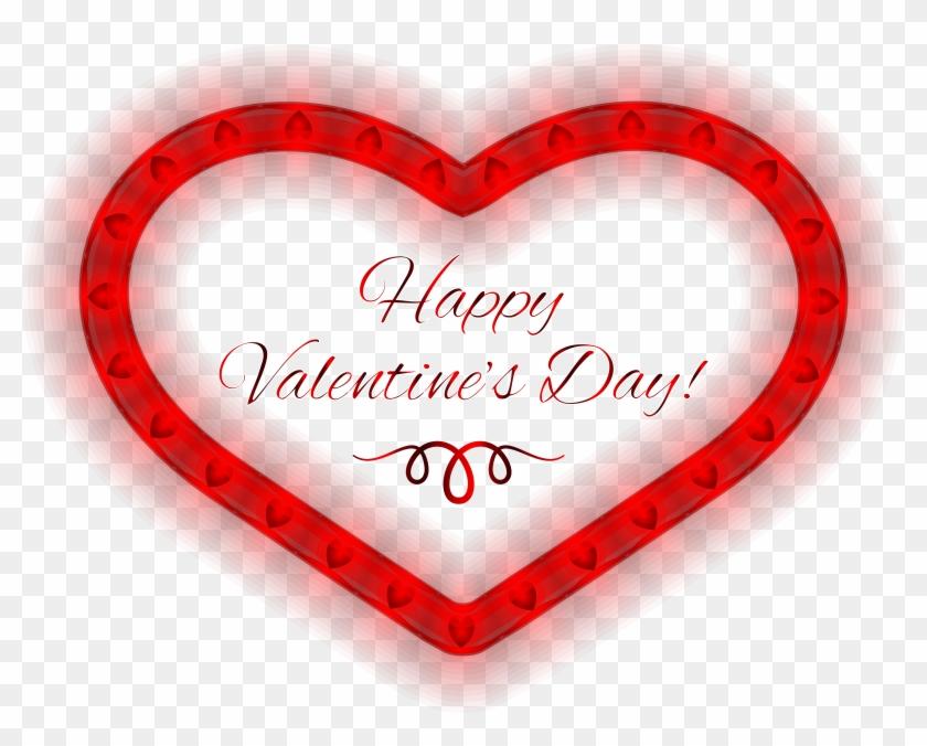 Valentine's Day Clipart Happy Valentines Day - Happy Valentines Day Heart #490202