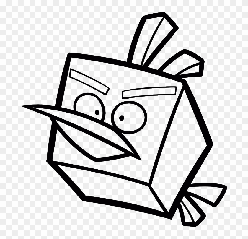 Blue Bird And His Friends Coloring Page Angry Birds Star