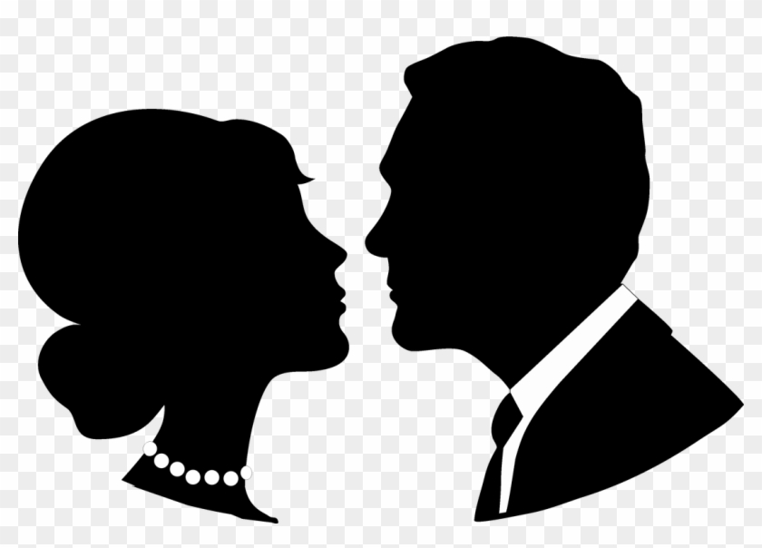 Groom Clipart Face Bride Face Silhouette Png Free Transparent Png Clipart Images Download