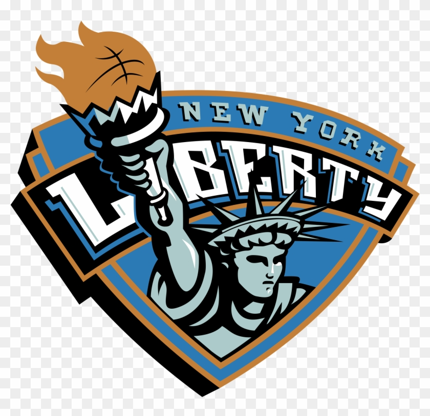 New York Liberty Logo Black And White - New York Liberty Basketball #491675
