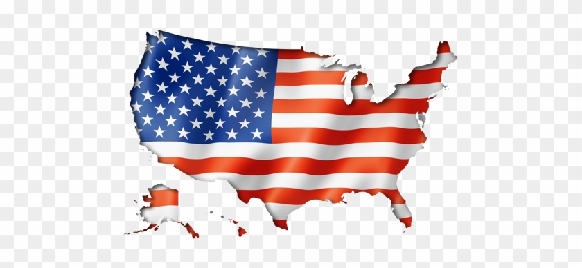 United States Flag Map Map Of Usa In Flag Free Transparent Png