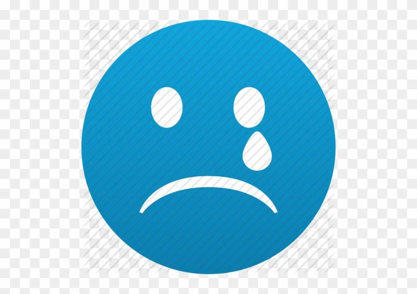 Sad Smiley Face Sad Face Emoticon Blue Free Transparent Png