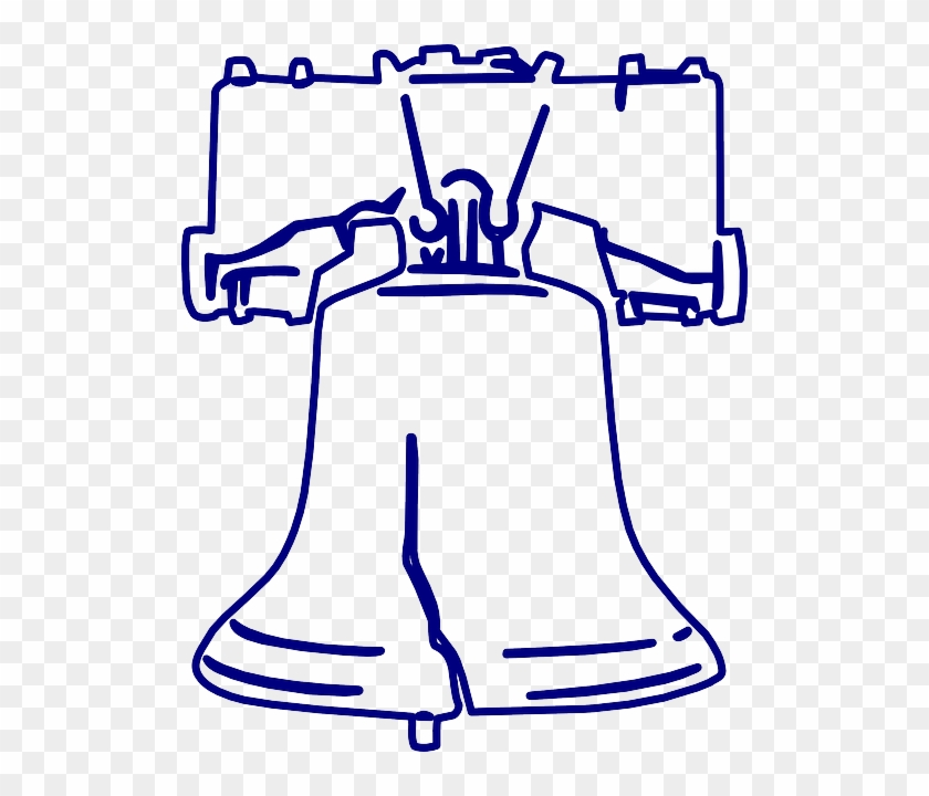 White Black, Outline, Drawing, Liberty, Sketch, White - Liberty Bell Coloring Page #492922