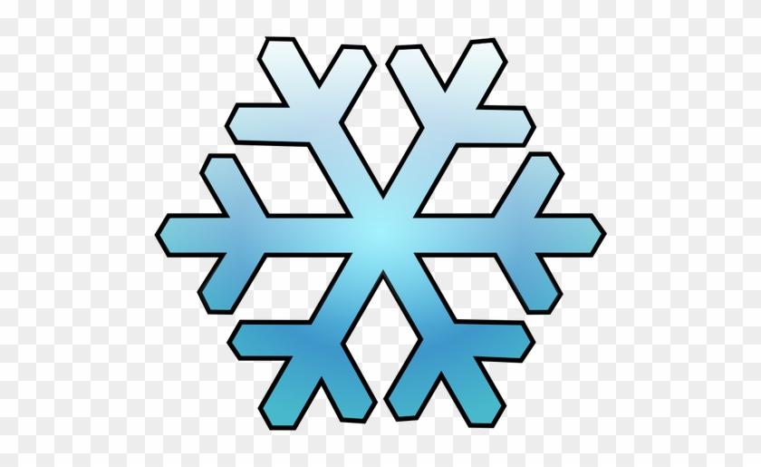 Illustration Vectorielle De Flocon De Neige Bleu Ombré - Snowflake Clip Art #493014