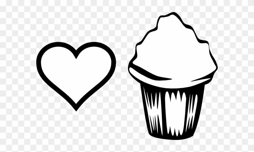 Heart Cupcake Image Clip Art At Clker Cupcake Con Corazon Para