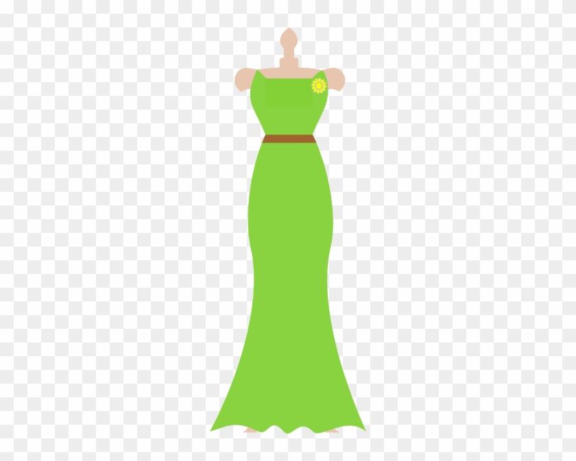 Bridesmaid Dress Clipart - Clipart Prom Dress Green #494652