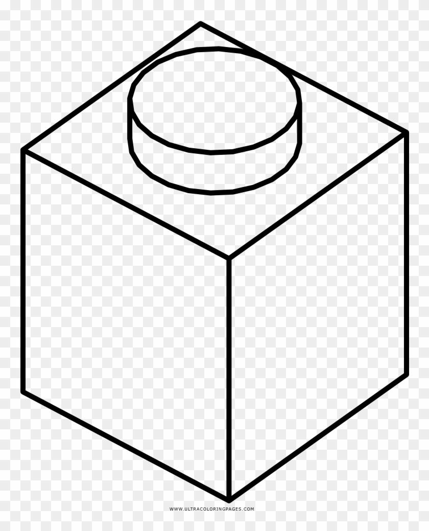 Lego Brick Coloring Page Desenho Caixa Para Colorir Free