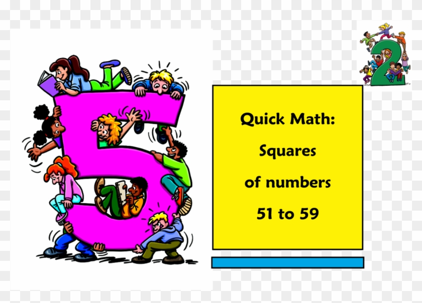 Squaring Numbers 51 To Fifth Grade Math Book Free Transparent