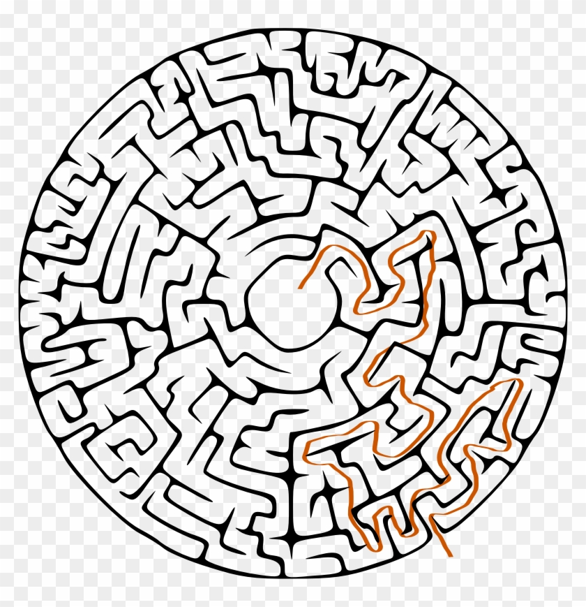 Medium Image - Circular Maze - Free Transparent PNG Clipart