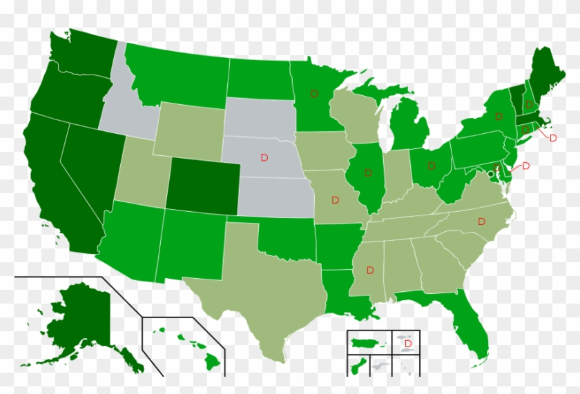 Map Of Us State Cannabis Laws - Marijuana Legalization Map 2018 #498002
