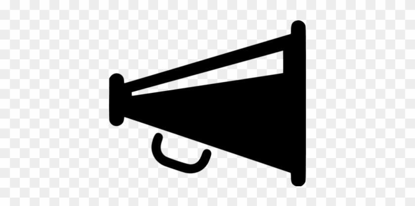 Speech & Debate - Megaphone Icon Png Grey #498015