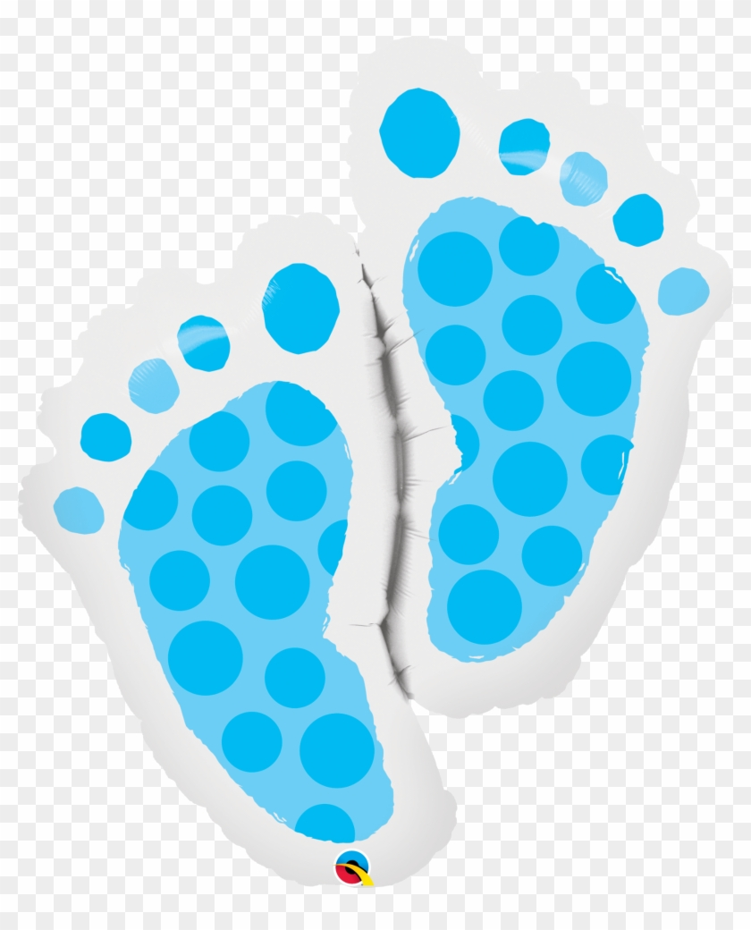 Qualatex 35 Inch Supershape Foil Balloon - Baby Feet #498220