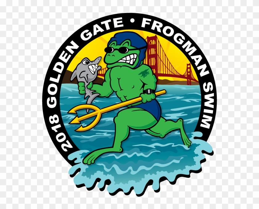 Golden Gate Frogman Swim - Ilocos Norte National High School Logo #498616