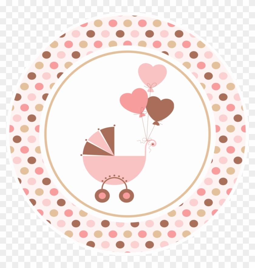 Huellas De Bebé En Rosa Chá De Bebe Para Imprimir Free