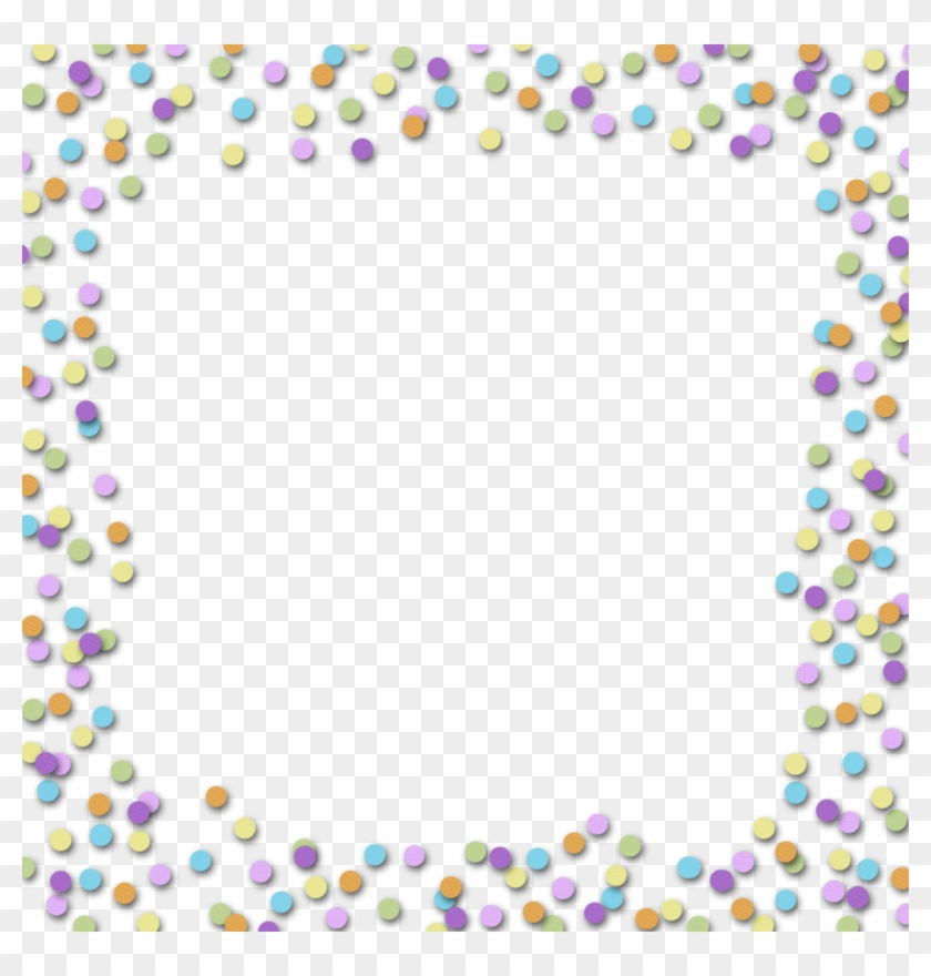 Party Confetti Borders Clipart Commercial Use Clip