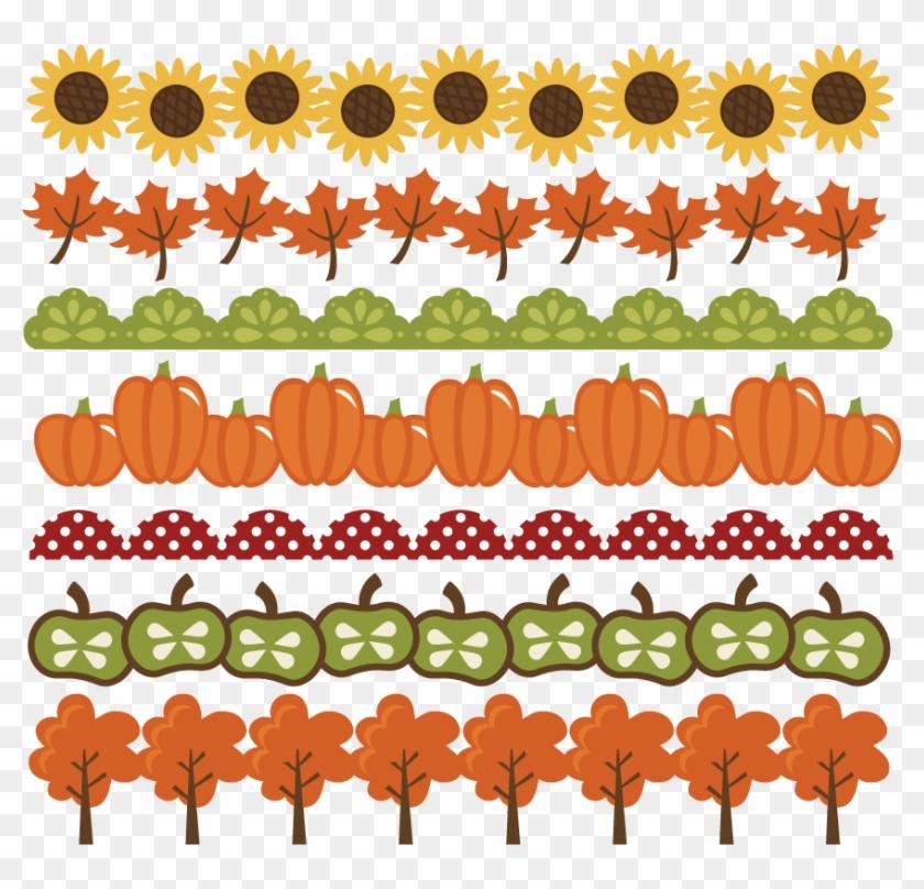 Large Fall-borders - Cute Fall Border Clipart #499286