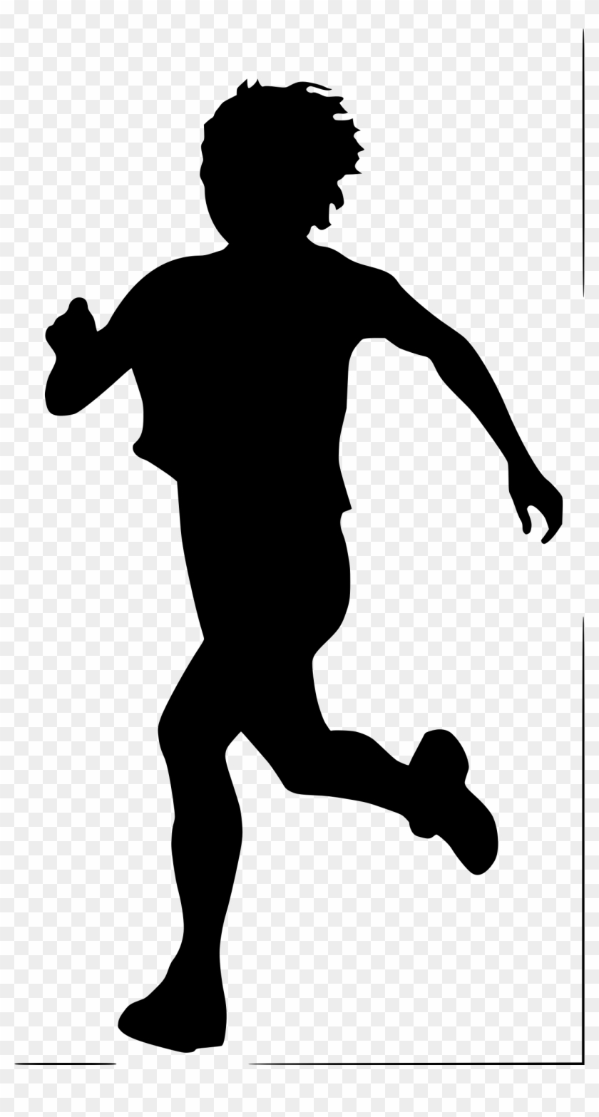 Silhouette People Running At Getdrawings - Boy Running Silhouette #499422