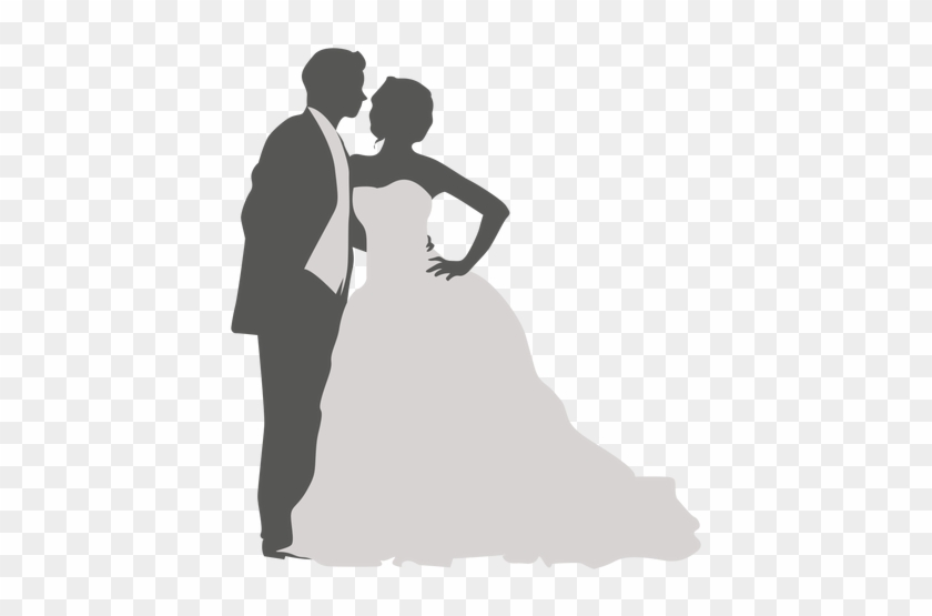 Golden Touch - Dancing Wedding Couple Silhouette #499662