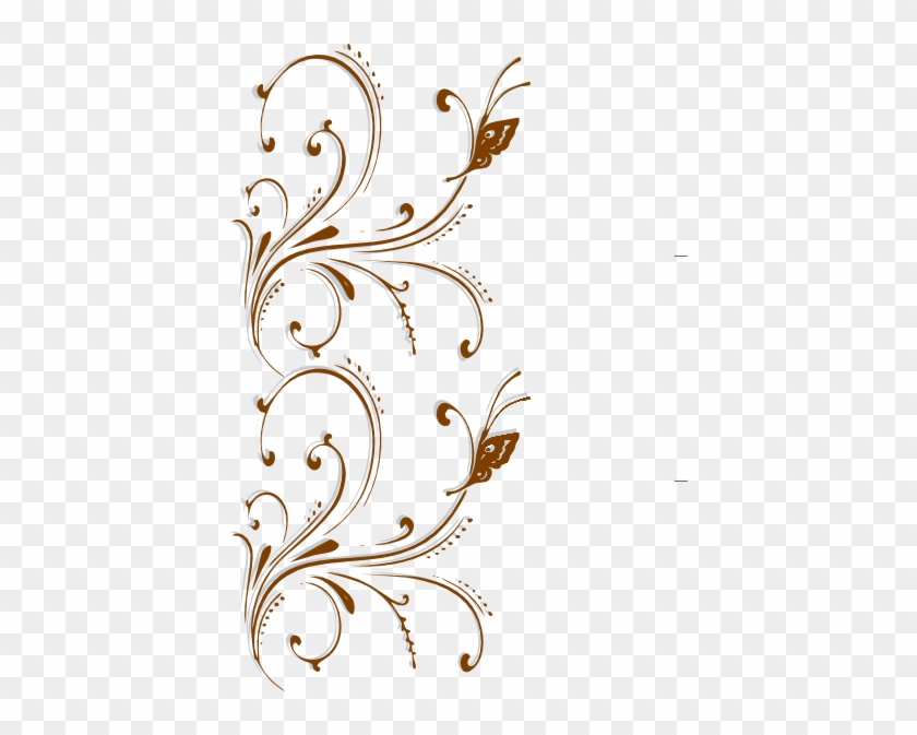 Fancy Wedding Border Png Transpa Images Clip Art - Write Here Notebooks: Butterfly Notebook/journal/diary #499763