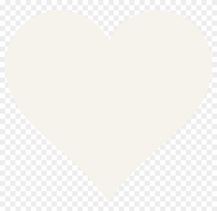 Cream-heart - Big Heart Template Printable #500759