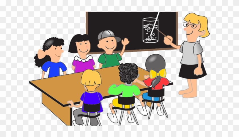 Your Multicultural Classroom - Students At Desks Clipart #501125