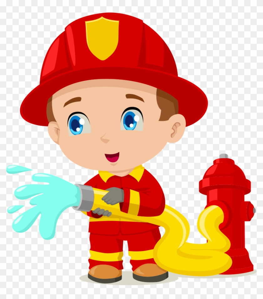 Firefighter Cartoon Clip Art - Imagenes De Un Bombero Animado #85654