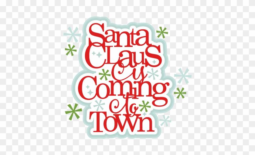 Claus Title Scrapbook Clip Art Christmas Cut Outs For - Weihnachtsmann Kommt Zum Stadtweihnachten Untersetzer #85697