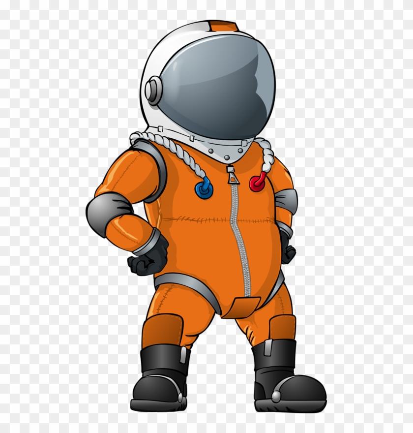 Orange Astronaut Clipart #85699