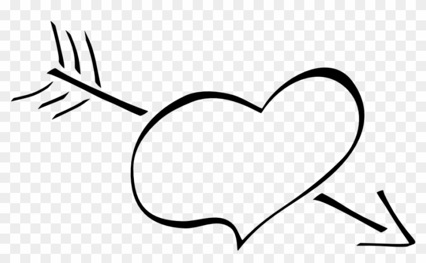 White Heart Clipart - Black And White Heart Cartoon #85708