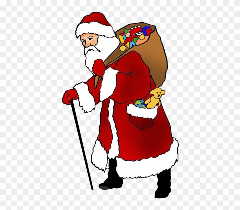 Vintage Santa Claus Picture With Presents - Santa Claus #85729