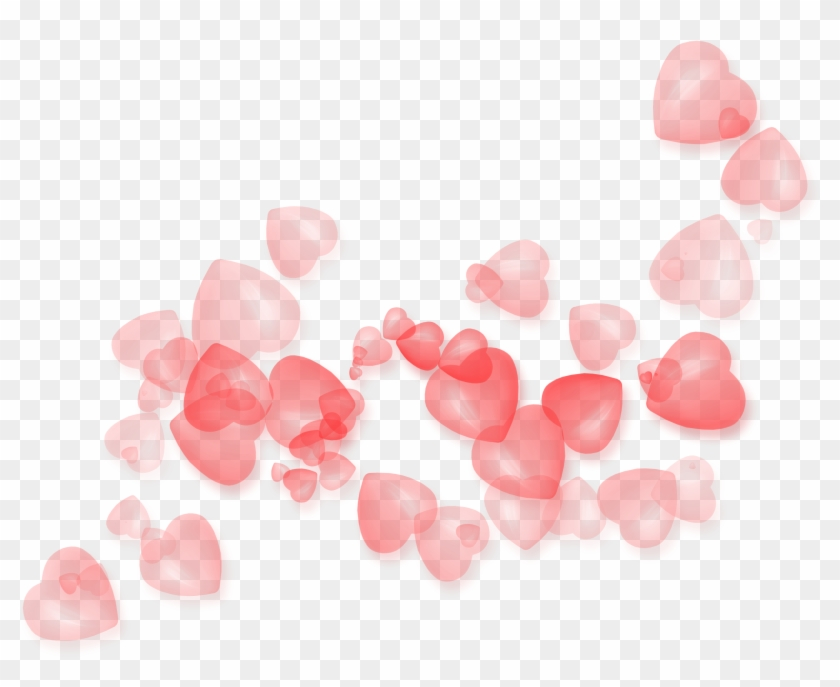 Transparent Hearts Decor Png Clipart Picture - Valentine Background Png #85737