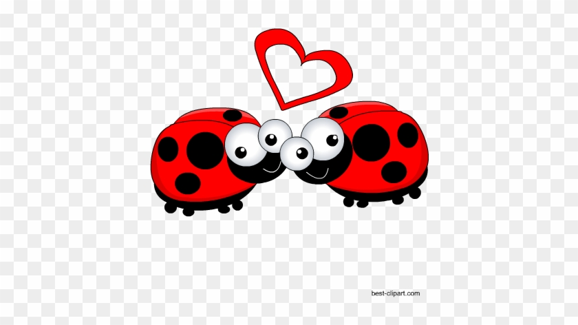 Love Lady Bugs, Free Valentine Clip Art - Clip Art #85759