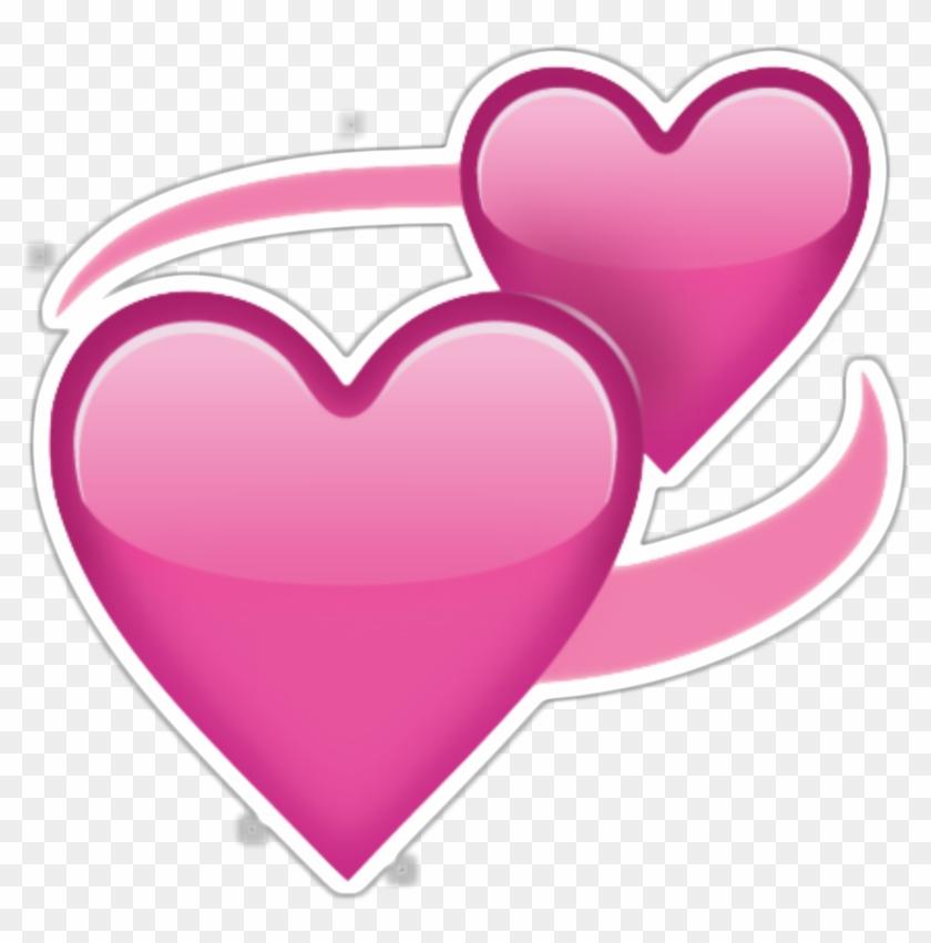 Two Pink Hearts Emoji Png Transparent - Heart Emoji Transparent #85786