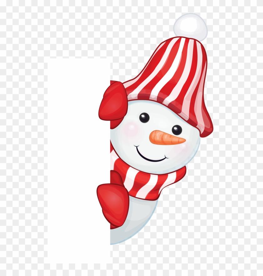 Tubes Noel Bonhommes De Neiges Tubes Christmas Amp - Santa Claus Asomandose #85822