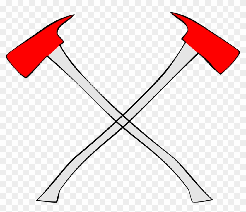 Axes Crossed Symbol Fireman Firefighter - Fire Axes Crossed #85909