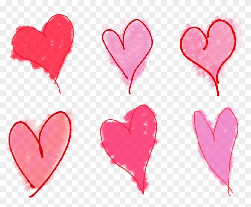 Valentine Heart Clip Art Collage Sheet Download - Drawing #85910