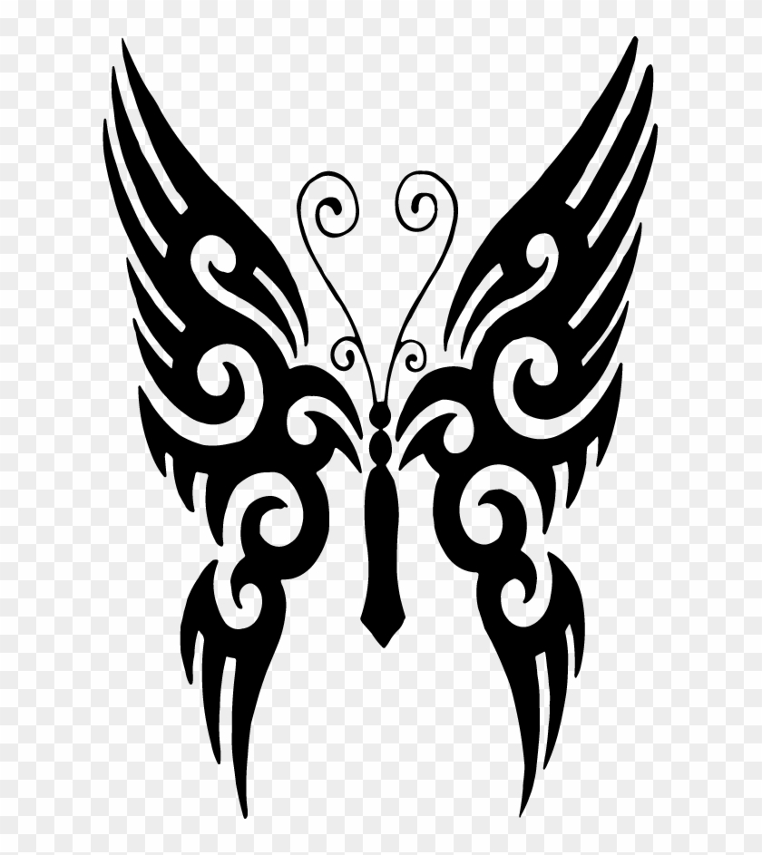 Butterfly Tattoo Designs Clipart Png 02 - Butterfly Tattoo Image Download #85908