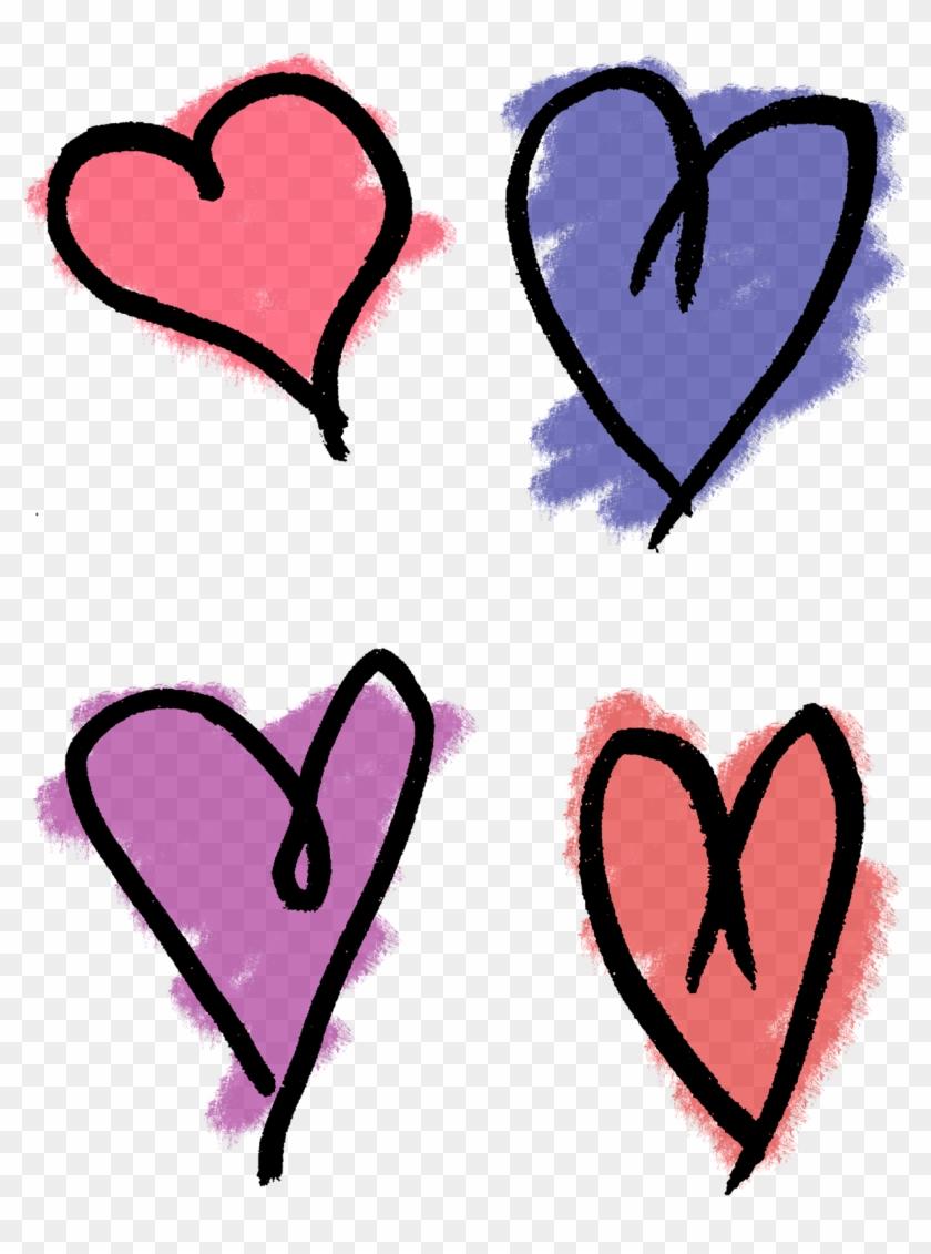 Heart Hand Drawn Artwork Collage Sheet Image Printable - Heart #85924