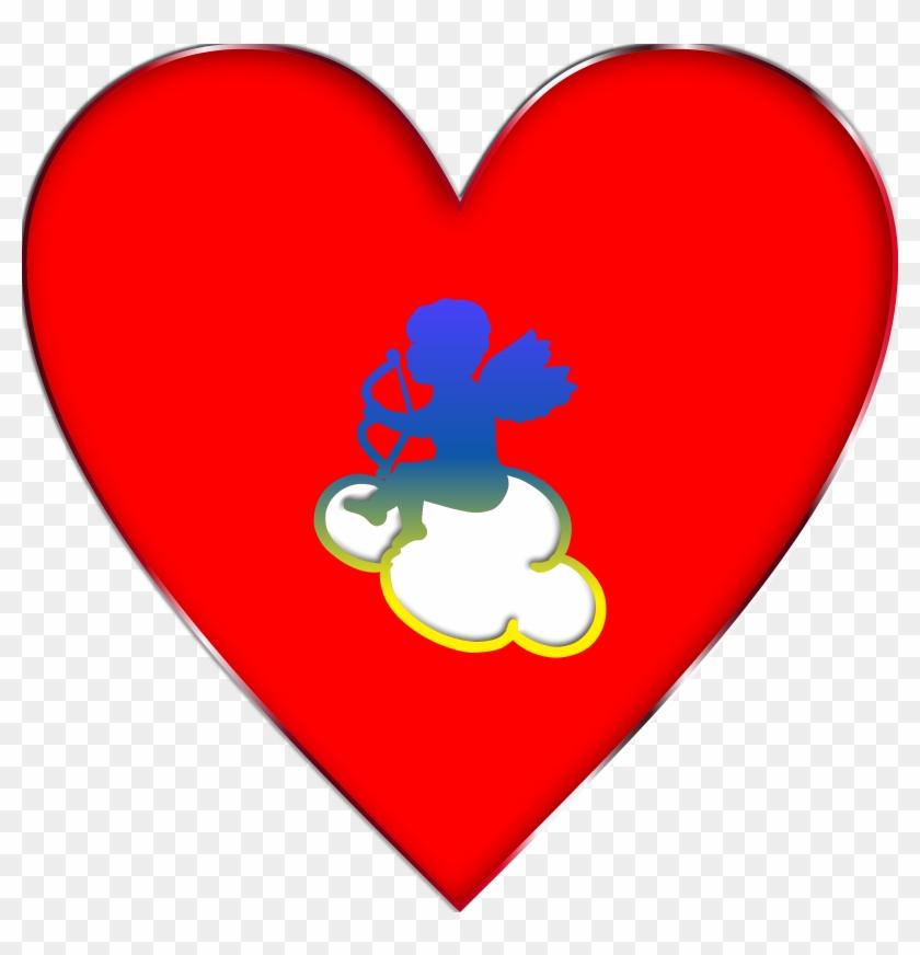 Cupid Heart Clip Art - Clip Art #85983