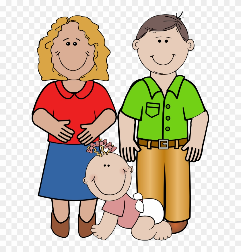 Baby Girl Crawling, Daddy Standing Png Image - Adult Clip Art #86000