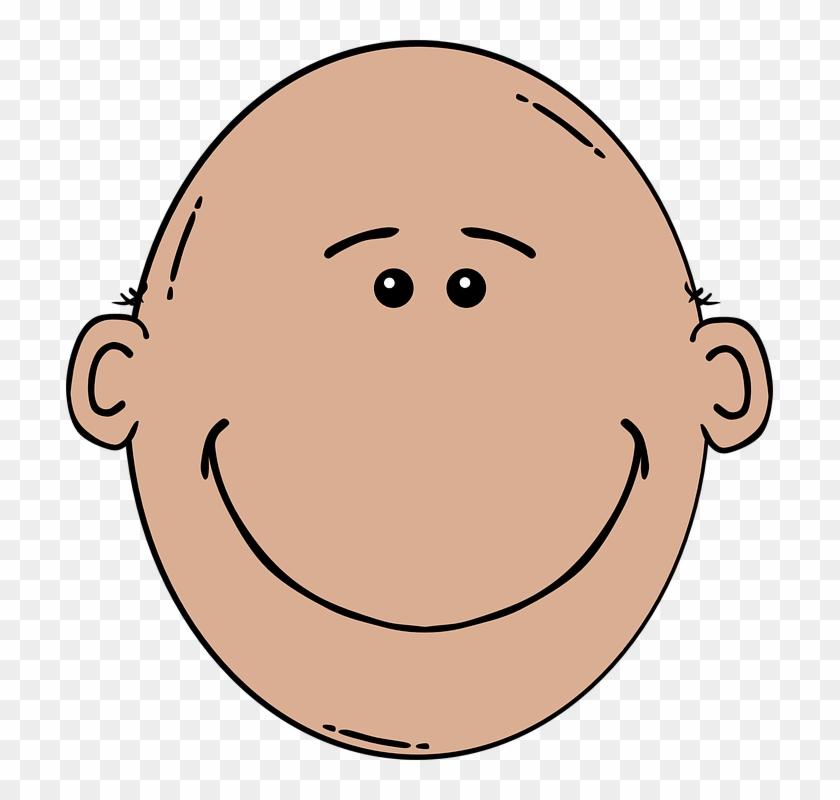 Face Clipart Dad - Clip Art Bald Man #86023